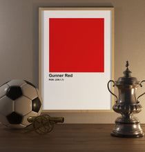 Load image into Gallery viewer, Gunner Red Poster - SuperIbra