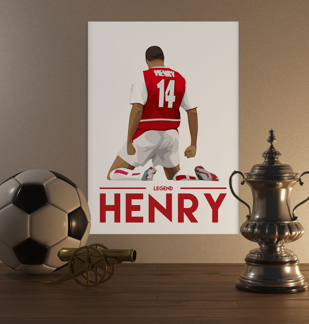 Thierry Henry Legend Poster - SuperIbra