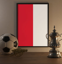 Load image into Gallery viewer, Red And White Poster - SuperIbra