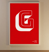 Load image into Gallery viewer, Letter G Poster - SuperIbra