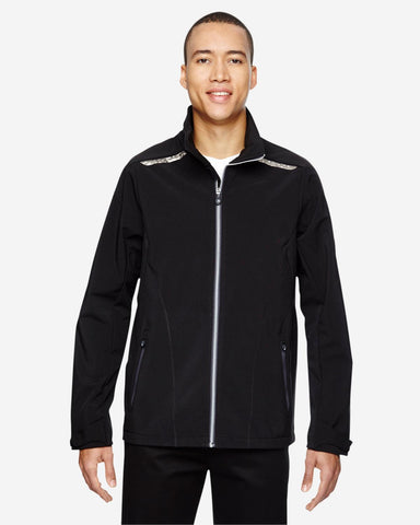 Men's Excursion Soft Shell Jacket with Laser Stitch Accents