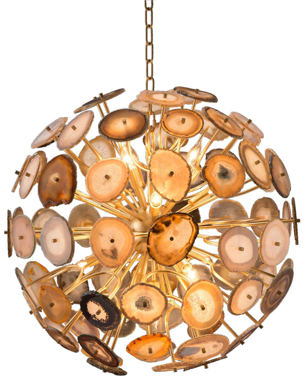 Agate Sliced ORB Chandelier