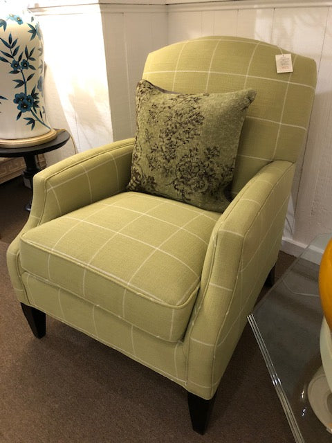 Green Plaid Lounge Chair