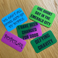 'For Good' Sticker Collection - Inspired by Wicked