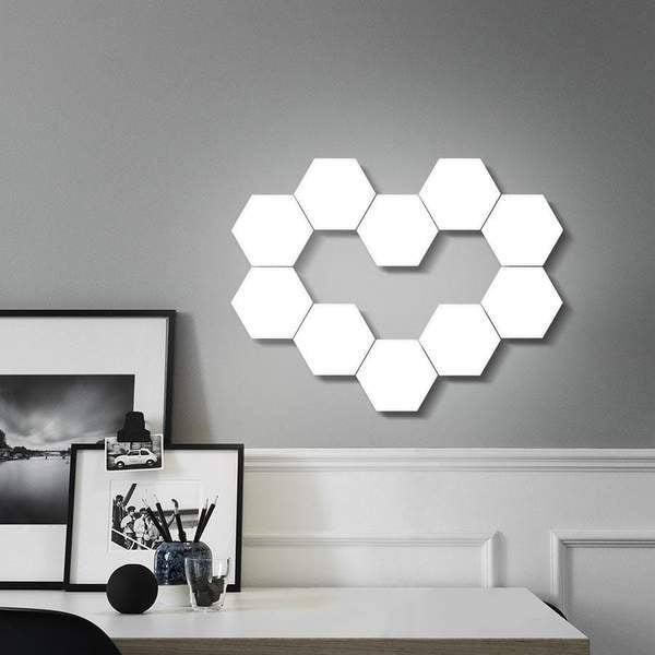 White LED Hexagonal Lamp by NT