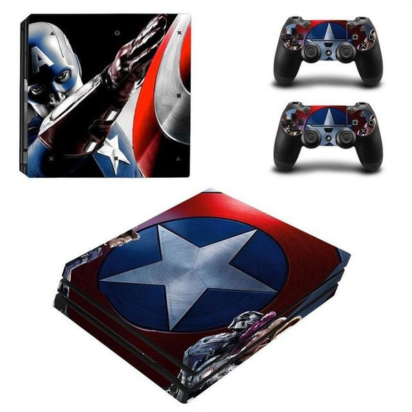 Skull Design PS4 skin sticker