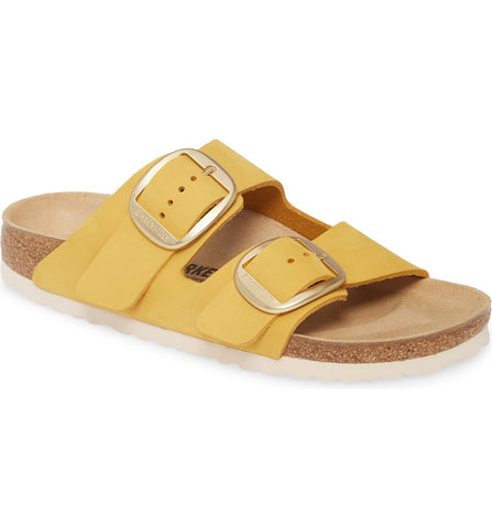 Big Buckle Leather Sandals