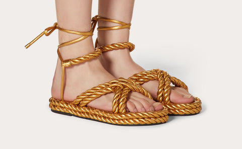 The Rope Metallic Sandal