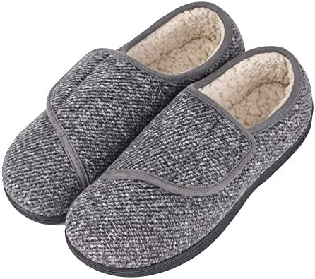 LongBay Men's Memory Foam Diabetic Slippers