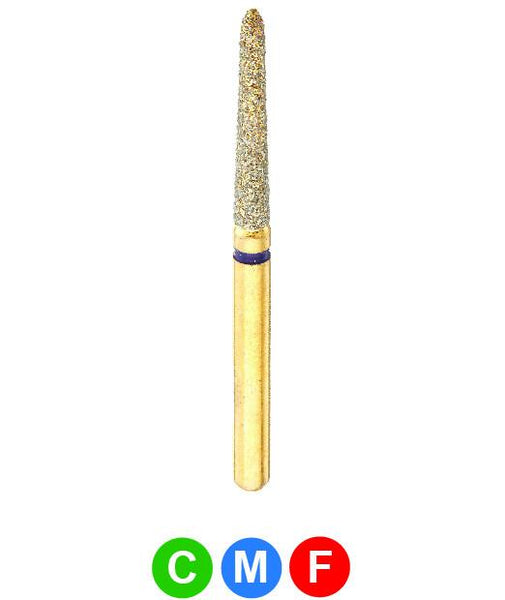 GS3 G879K/016  Dentalree GOLD PLATED premium multi-use Diamond Burs