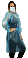 Isolation Gown - Front Coated Only Level 2 with Knit Cuffs - Size L (pack of 10)