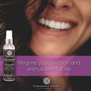 JOY & HAPPINESS!  All Natural Body Spray with Plant Based Extracts for Positivity and Essential Oils, Lemongrass