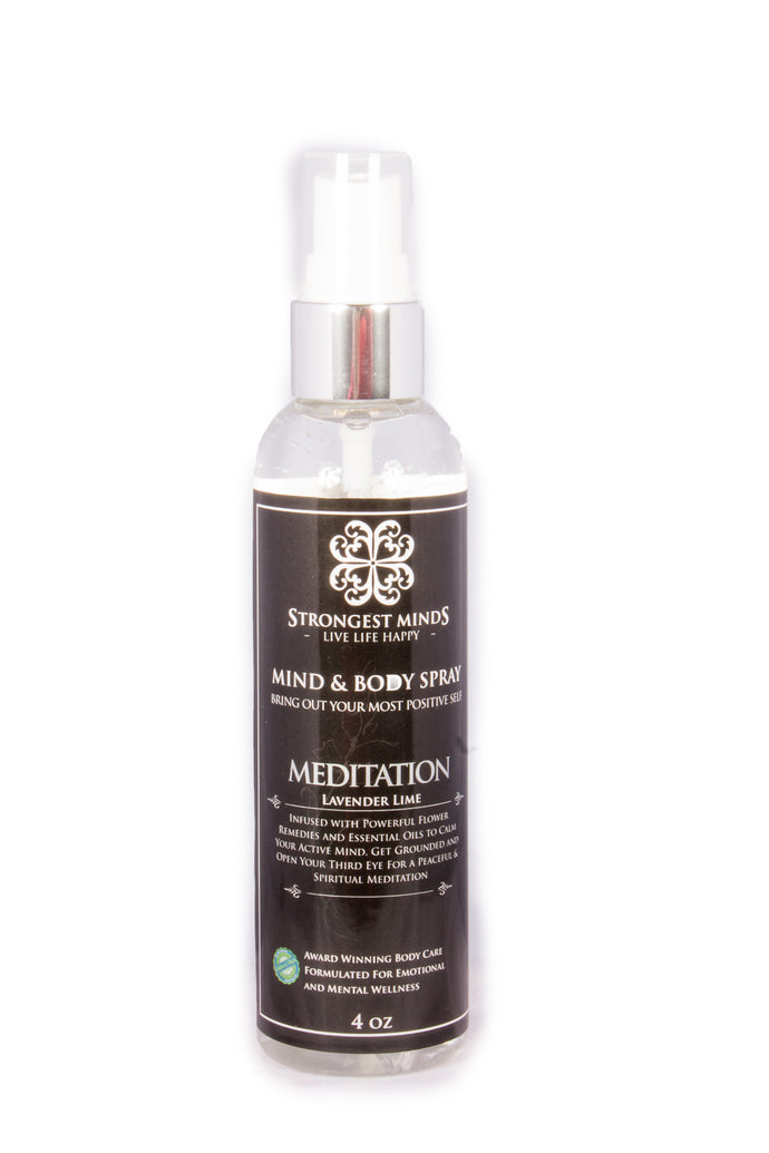 MEDITATION. All Natural Body Sprays Using Bach Flower Remedies and other powerful remedies and essential oils of Lavender & Lime to help open 3rd Eye, Calm Thinking Mind, Peace to Meditate | Strongest Minds