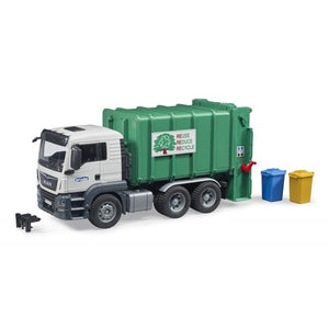 MAN Rear Loading Garbage Green