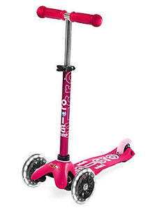 Mini Deluxe Pink LED Scooter