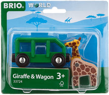 Load image into Gallery viewer, Brio Giraffe and Wagon 33724