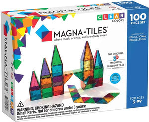 Magna-Tiles 100-pc Clear Colors