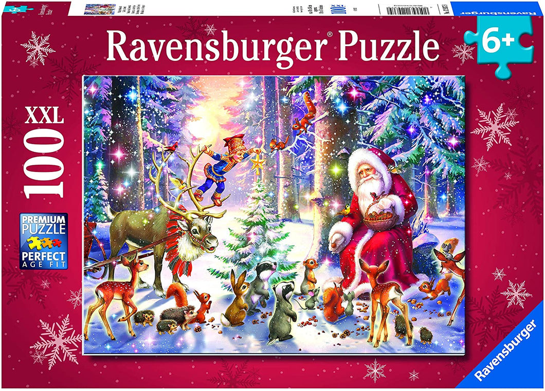 Christmas in the Forest 100 Piece Puzzle