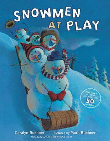 Snowmen at Play Stickers