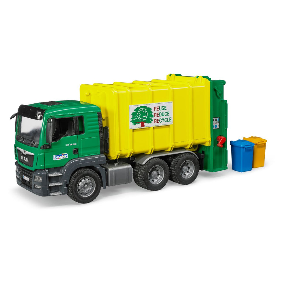 MAN TGS Garbage Truck Green/Yellow