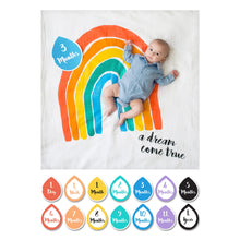 "Load image into Gallery viewer, Lulujo ""A Dream Come True"" Baby's First Year Blanket & Cards Set"
