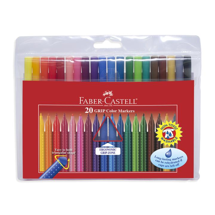 20ct Grip Washable Markers