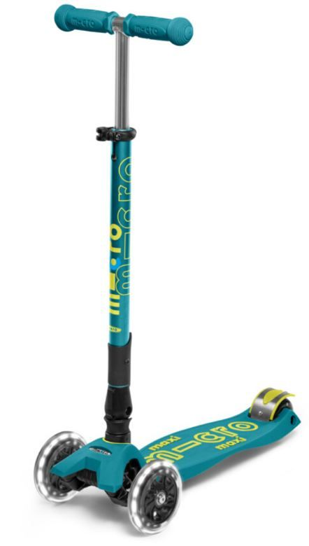 Kickboard USA Petrol Green Foldable LED MAXI Scooter