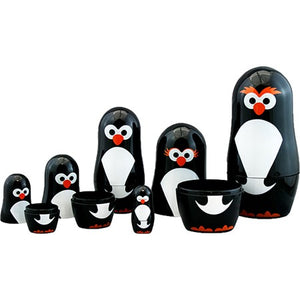 Penguin Parade Nesting Dolls