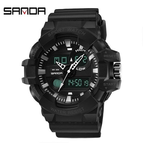 Handy Outdoor Goods black Mens Digital LED Watch