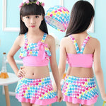 Handy Outdoor Goods Cute Love Two Pieces Swim Suits