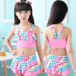Handy Outdoor Goods pink / S Cute Love Two Pieces Swim Suits