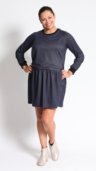 Emily Denim Breastfeeding Long Sleeves Tunic Dress