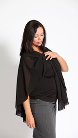 Silvia Breastfeeding Swing Black Top - EGG Maternity NZ Ltd