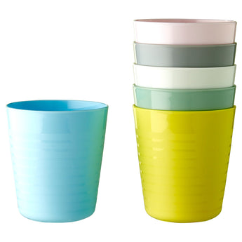 IKEA KALAS Mug, 6 mixed colours
