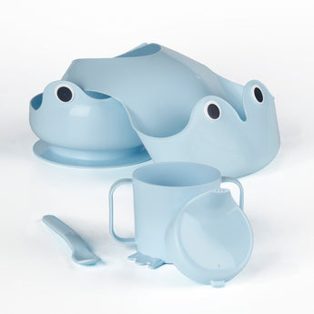 IKEA MATA 4-piece eating set, blue - EGG Maternity NZ Ltd