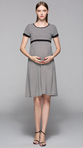 Miah Stripe Breastfeeding Dress