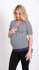 Abri Strip Breastfeeding 3/4 Sleeve Top