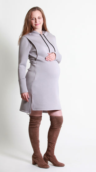 Lena Breastfeeding Hoodie Dress