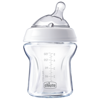 CHICCO Natural Feeling Glass Bottle 0m+ 150ml - EGG Maternity NZ Ltd