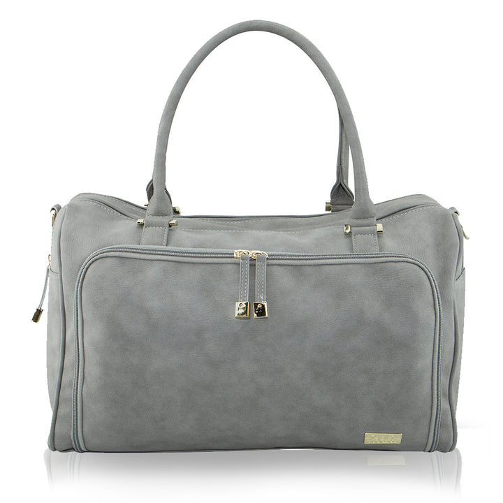 Double Zip Satchel - Stone
