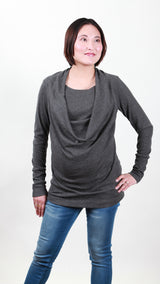 Roma Drape Nursing Top
