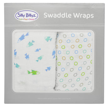 Galapagos Muslin Swaddle Wrap 2pk-120x120cm - EGG Maternity NZ Ltd