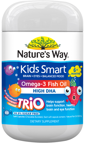 Nature's Way Kids Smart Omega-3 Fish Oil Burstlet Trio 60s - EGG Maternity NZ Ltd