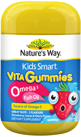Nature's Way Kids Smart Vita Gummies Omega-3 Fish Oil 60s - EGG Maternity NZ Ltd