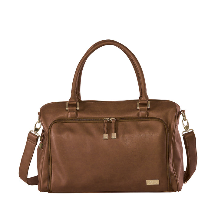 Double Zip Satchel Redwood Bag - EGG Maternity NZ Ltd