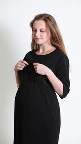 Antonia Nursing Pleat Dress - EGG Maternity NZ Ltd