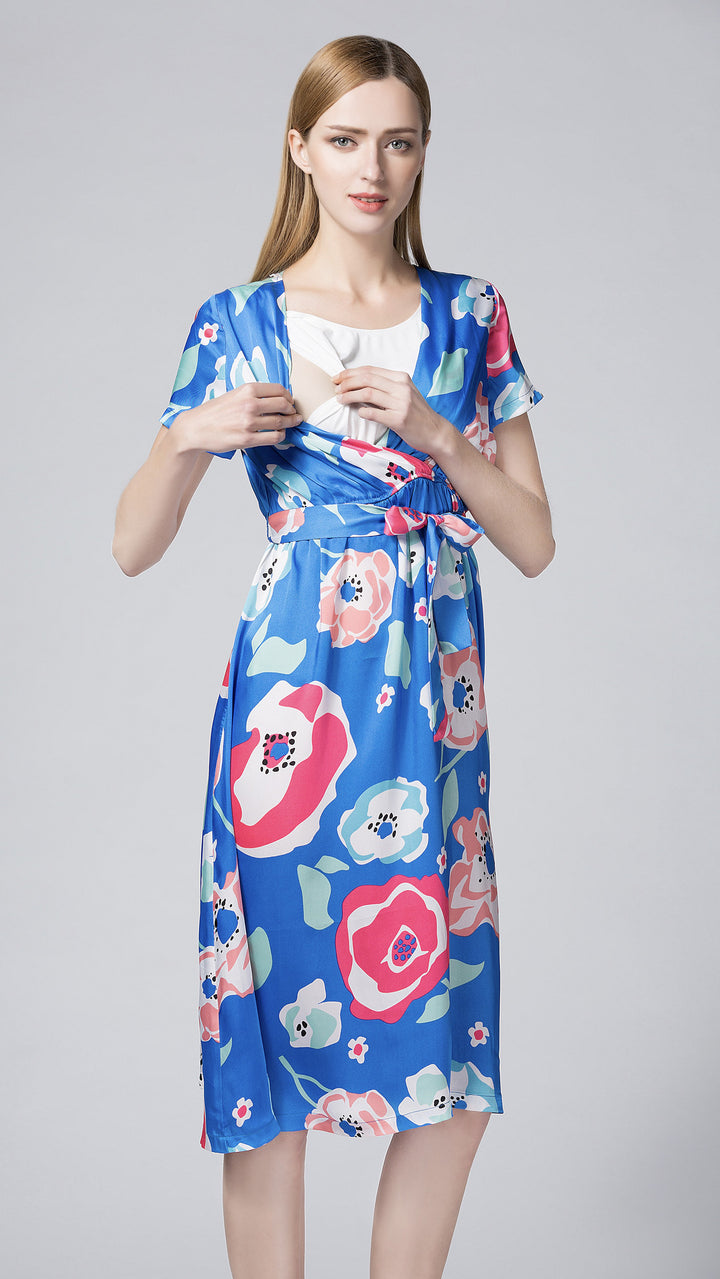 Marica Print Nursing Dress