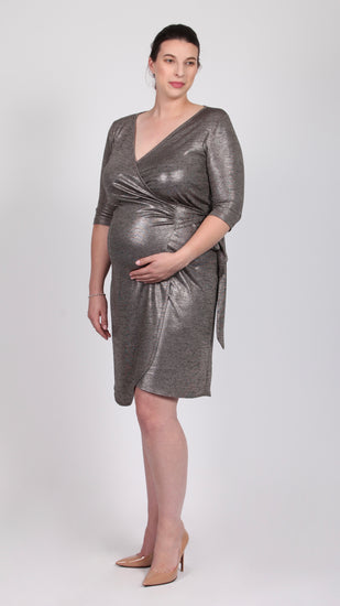 Elaine Maternity Wrap Dress