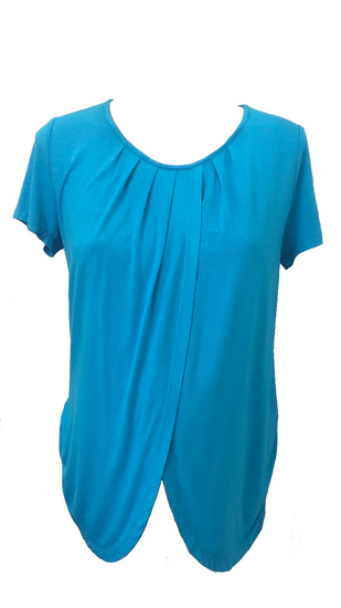blue maternity/breastfeeding top
