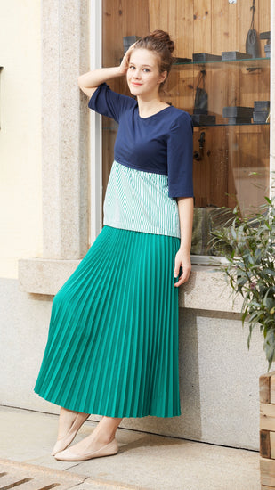 Egg Maternity Pleat Skirt